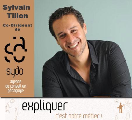 Photo de Sylvain Tillon, co-dirigeant de Sydo - agence de conseil en pédagogie