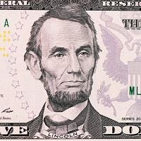 Portrait d'Abraham Lincoln sur un billet de banque